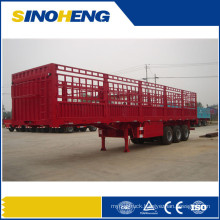 Flatbed Cargo Trailer High Fence Stake Goods Transport Semi Trailer for Sale