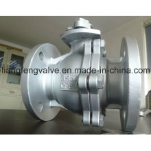 2PC Ball Valve Flange End RF with Stainless Steel