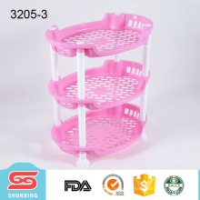 Cocina práctica durable 3-capa de almacenamiento de plástico elíptico de rack para la venta