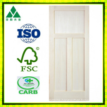 Poplar 3 Panel Shaker Veneer Wood Door