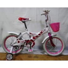 Beau vélo blanc fille vélo enfants vélos (FP-KDB129)