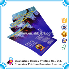 Fast Printing Full Color Flyer Printing In 157gsm 128gsm Art Paper