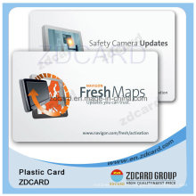 Clear Plastic PVC RFID Visiting Business Card with Custom Design