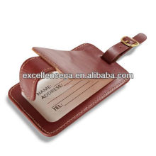 Awesome branded leather luggage tag