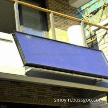 Balcony solar water heater with imported blue titanium absorber