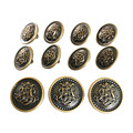 Vintage Antique Brass Metal Blazer Button Set