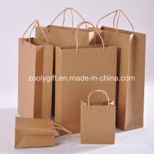 Atacado baratos reciclar sacos de papel Kraft durável com alça torcida