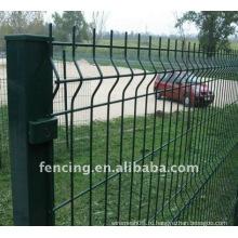 Покрынная PVC сваренная Загородка ячеистой сети (изготовление)