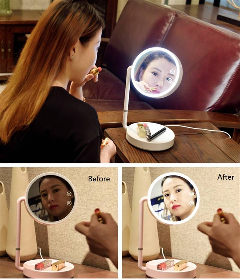 LED Light Mirror White