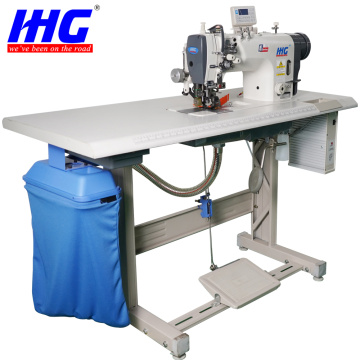 Automatic Cutter Attachment Double Needle Sewing Machine