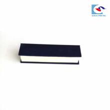 Sencai elegante rechteckige magnetische Kartonprägung benutzerdefinierte Logo EVA einfügen
