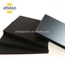 JINBAO panneau de mousse de PVC noir de haute densité de publicité
