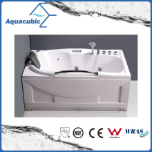 Rectangle ABS Board Massage Whirlpool Bathtub in White (AB0821)