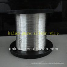 Hebei anping KAIAN 0.4mm alambre 9999 alambre de plata puro