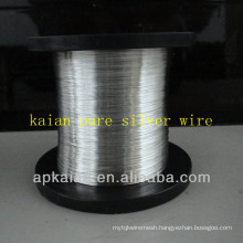 hebei anping KAIAN 0.4mm wire 9999 pure silver wire