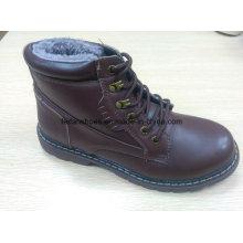 Neueste Winter MID-Cut Casual Lederstiefel Stock Schuhe (FF616-3)