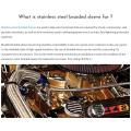 Растяжимая металлическая плетеная проволочная втулка для переодевания двигателя