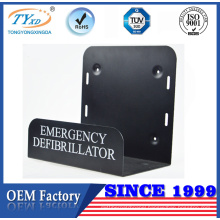 good quality metal bracket with holes for defibtech defibrillator
