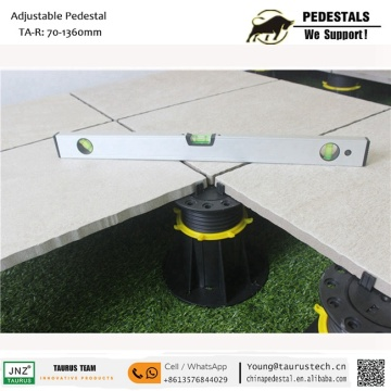 Composite decking support adjustable  raised floor tile