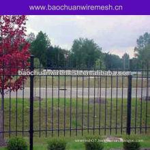 Wrought iron garden fence