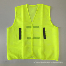 Yellow cheap mesh safety vest with reflective band UAE