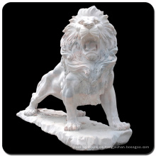 Vincentaa alta calidad mármol natural tallado estatua león