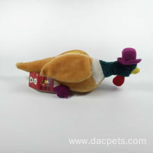 dog toy faux fur duck for pet