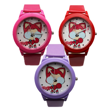 Kids Cute Cartoom Leather Watch