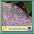 Embroidery Print organza curtain fabric