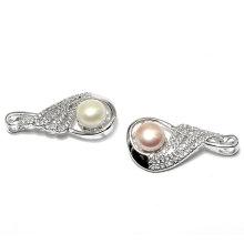 China Fábrica Elegante perla CZ zircon joyas colgante para la señora