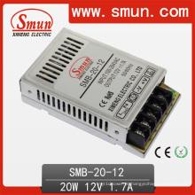 Fonte de alimentação do interruptor do caso plástico ultra fino de 20W 12V 1.7A