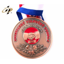custom gold running award sport metal hanger holder medal with ribbon
