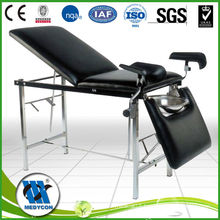 back adjustable stainless steel gynecological examination table