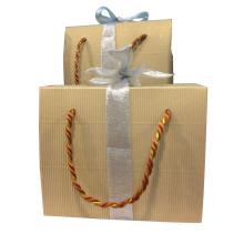 Papier imprimé imprimé Shopping Sac cadeau avec ruban