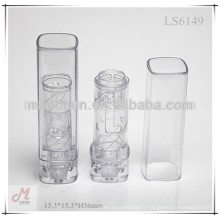 LS6149 Square transparent mini lipstick container/mini lipstick tube/mini lipstick case