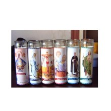 Religiöse Glaskerze Glaskerzen