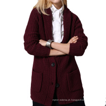 casaco de caxemira das mulheres da moda
