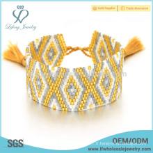 Nouveaux bracelets de perles de semences, bijoux en braille de bohème