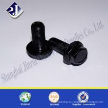 Perno de brida negro grado 8.8 chapado en zinc