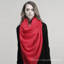 Spot en gros laine plaine Pashmina laine écharpe châle SWW715 pure élégante mode
