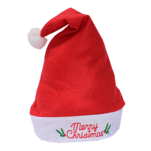 Partihandel juldekoration billiga korall fleece jul hatt, Santa hatt