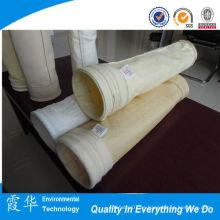 Filtros de bolsa de fieltro de aguja de alta temperatura para polvo de cemento