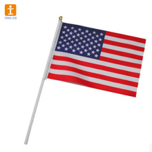 Custom mini national hand waving flag for sale