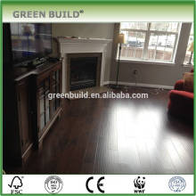 Handscraped walnut color laminate wooden flooring