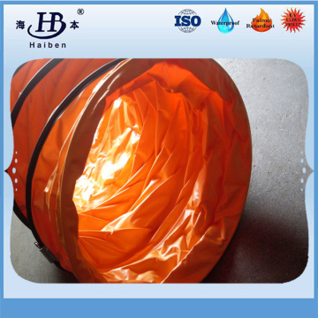Flame retardant PVC tarpaulin air conducting duct