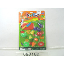 Plastic Fruit and Vegetable Cutting Toy
