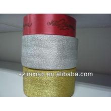 bolsa de organza personalizada con cinta de navidad de logo
