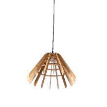 Modern simple wood pendant lamp with cone-shaped