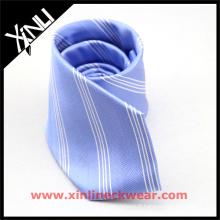 Rayures sur mesure tous les cravates d'école d'étudiant de polyester fait main uniforme