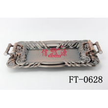 Stainless Steel Bronze Plating Craft Tray (FT-0628)